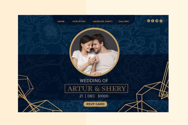 Pagina di destinazione dell'anniversario di matrimonio