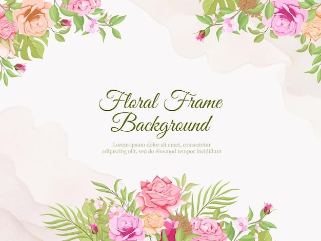 Matrimonio banner sfondo flora vector template
