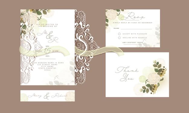 Partecipazione di nozze con un bel design.