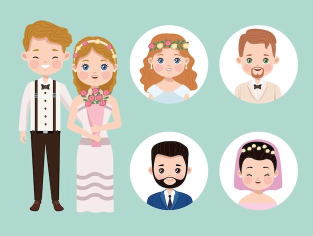 Personaggi del matrimonio