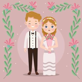 Sposi e fiori