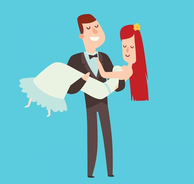 Illustrazione di stile del fumetto delle coppie di nozze