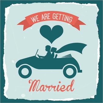 Progettazione di nozze sopra l'illustrazione blu di vettore del fondo