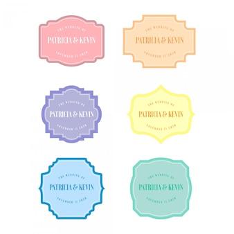 Cornice per matrimonio in colore pastello