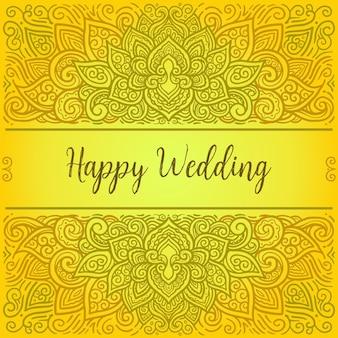 Illustrazione di mandala di auguri di nozze
