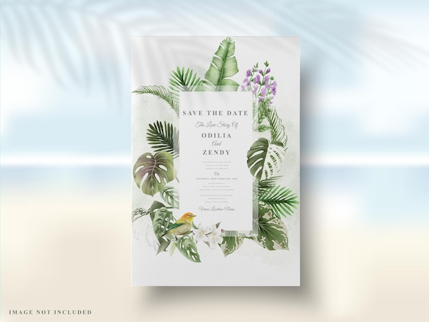 Estate floreale della carta dell'invito di nozze