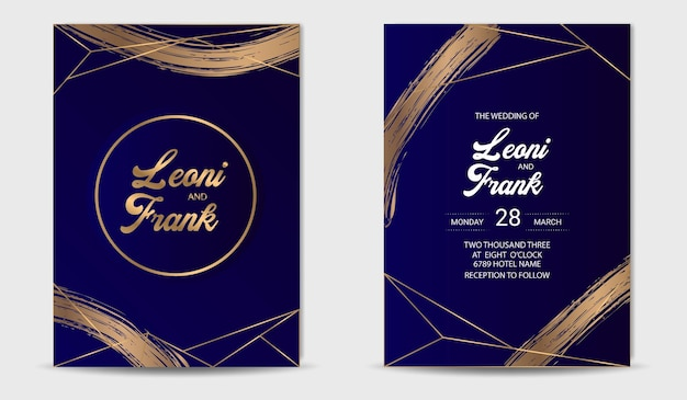 Invito a nozze carta oro lusso