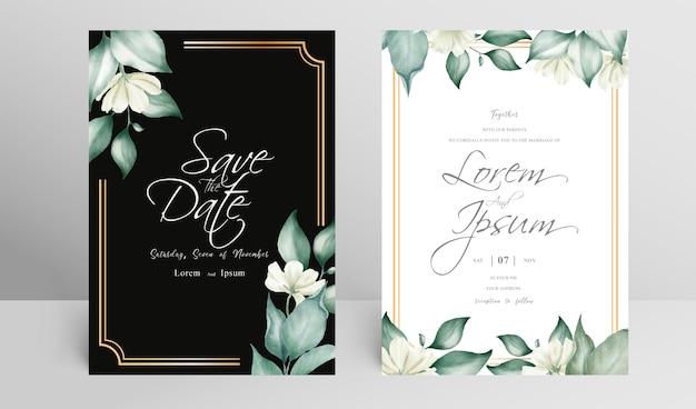 Modello di set di carte di invito a nozze