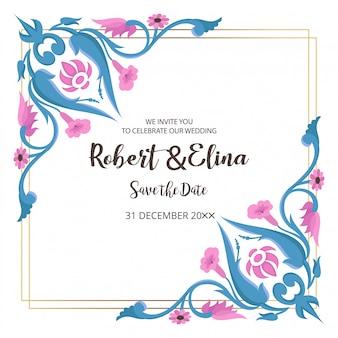 Modello di carta di invito matrimonio