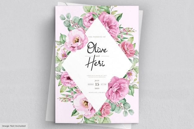 Carta di invito a nozze con fiori