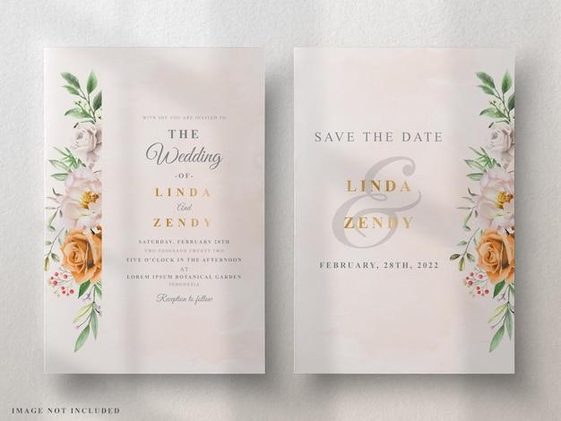 Biglietti d'invito matrimonio elegante floreale