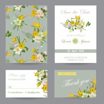Invito a nozze. set di carte di congratulazioni