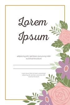 Cartolina d'auguri o annuncio decorativa dell'invito di cerimonia nuziale