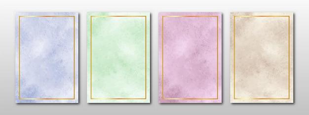 Invito a nozze set di acquerello astratto dipinto a mano minimalista creativo