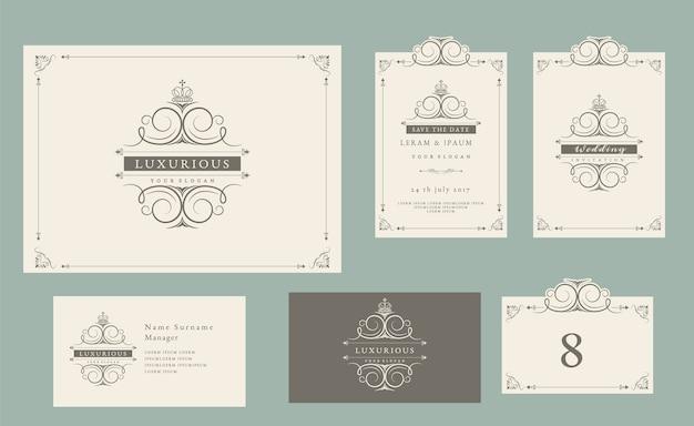 Invito a nozze stile vintage set