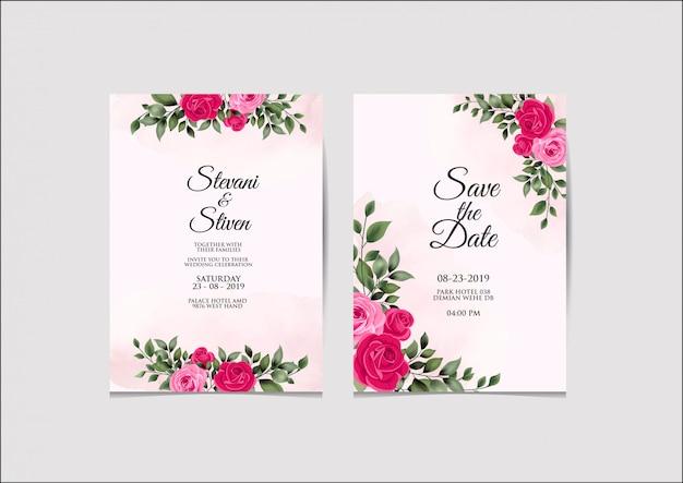 Modello di invito di nozze bellezza ed elegante