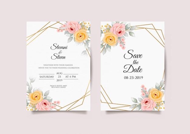 Disegni modello invito di nozze