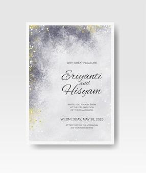 Invito a nozze con acquerello splash astratto