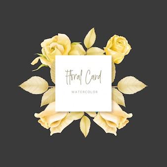 Invito a nozze con sfondo floreale Vettore Premium