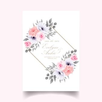Invito a nozze con rose