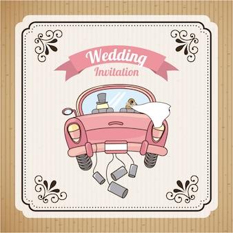Invito a nozze Vettore Premium