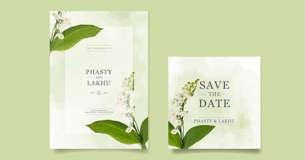Carta di inviti di nozze con bellissimi fiori