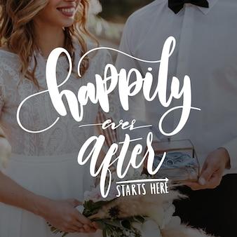 Disegno di lettere di nozze
