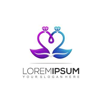 Modello di logo per organizzazione di matrimoni