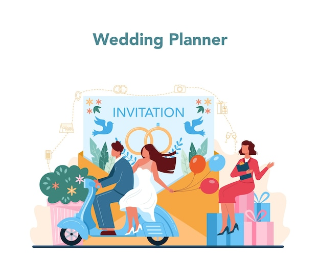 Concetto di wedding planner