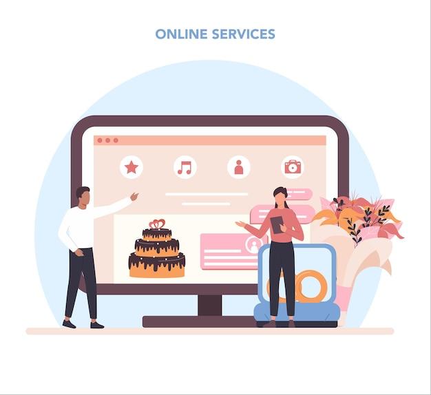 Servizio o piattaforma online di wedding planner