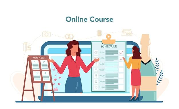 Servizio o piattaforma online di wedding planner.
