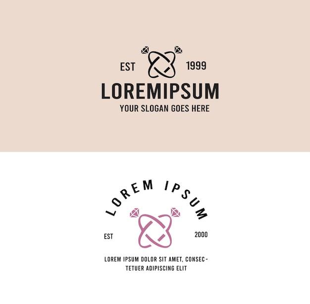 Fede nuziale amore logo vintage