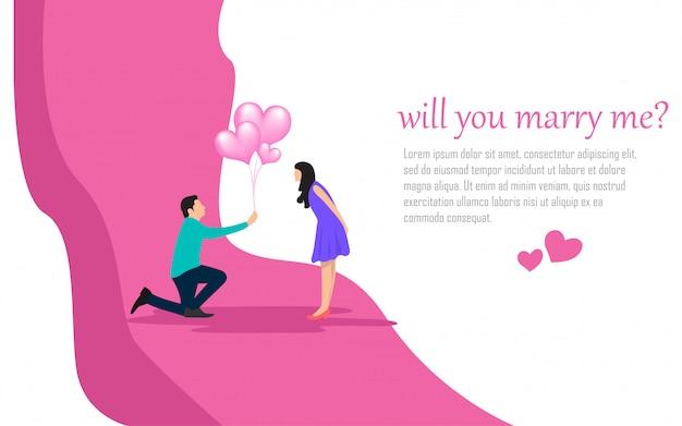 Illustrazione dell'invito del pianificatore romanticismo di nozze