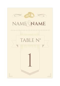 Indicatore della tavola di nozze