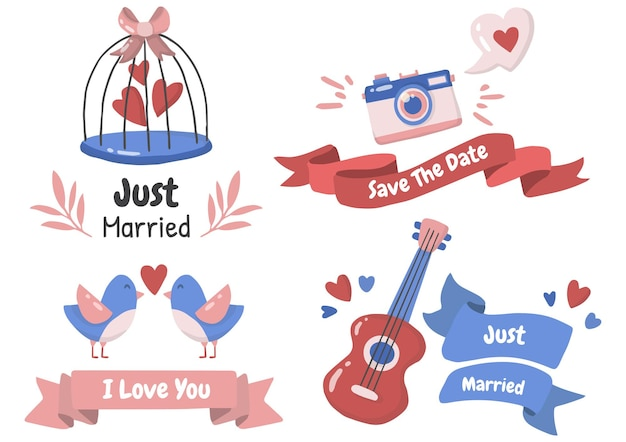Set di temi di nozze