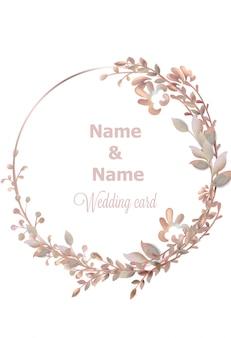 Acquerello ghirlanda di nozze