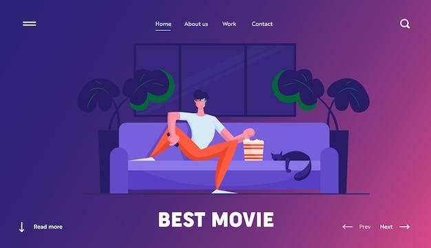 Pagina di destinazione del sito web di ricreazione home cinema di fine settimana