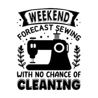 Cucitura delle previsioni del fine settimana senza possibilità di pulizia tipografia modello di preventivo per il design vettoriale premium