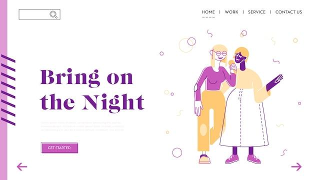 Pagina di destinazione del sito web sparetime del fine settimana