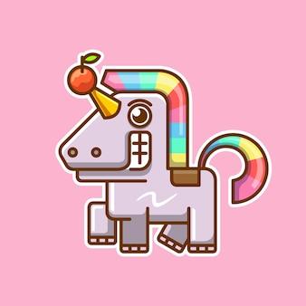 Strana illustrazione di unicorno