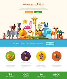 Benvenuti nel modello di sito web di viaggi in africa