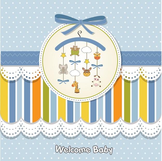 Benvenuto carta annuncio bambino