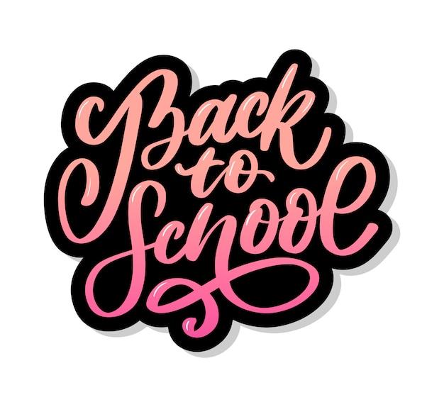 Bentornati a scuola adesivo a mano pennello lettering