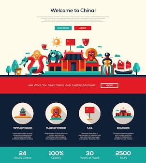 Benvenuti nel modello di sito web di viaggi in cina