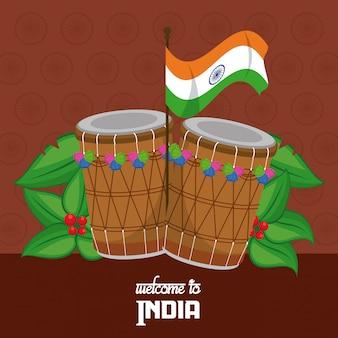 Benvenuto in india con le percussioni