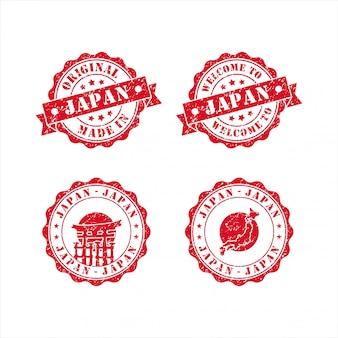 Benvenuti nel set di francobolli giapponesi