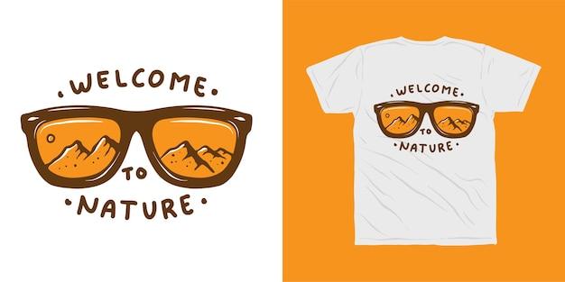 Benvenuto al design della maglietta della natura