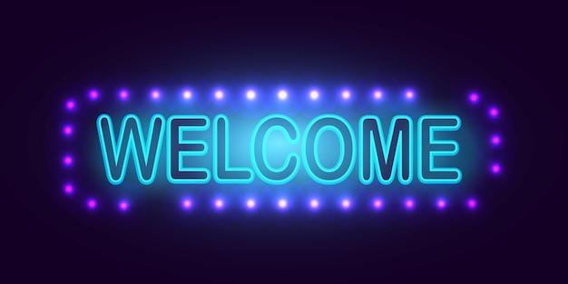 Benvenuto luci al neon