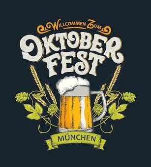 Benvenuti al lettering dell'oktoberfest