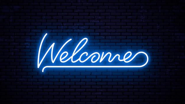 Benvenuto - modello di iscrizione pronto per insegna al neon.